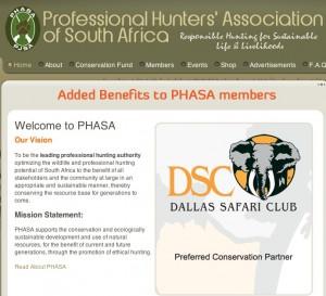 Asociación de cazadores profesionales de Sudáfrica