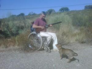 Caza en silla de ruedas