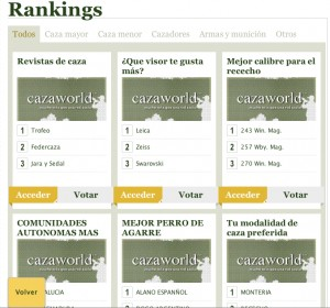 rankings en Cazaworld