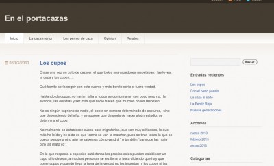 portacazas, blog de caza