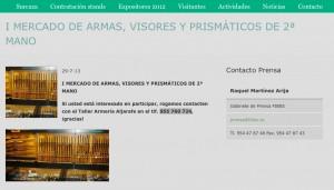 primera edición mercado segunda mano de armas, visores y prismáticos Surcaza 2013