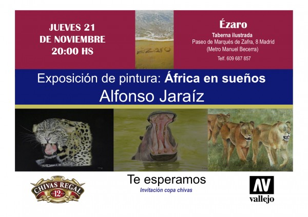 exposición pintor de la caza Alfonso Jaraiz