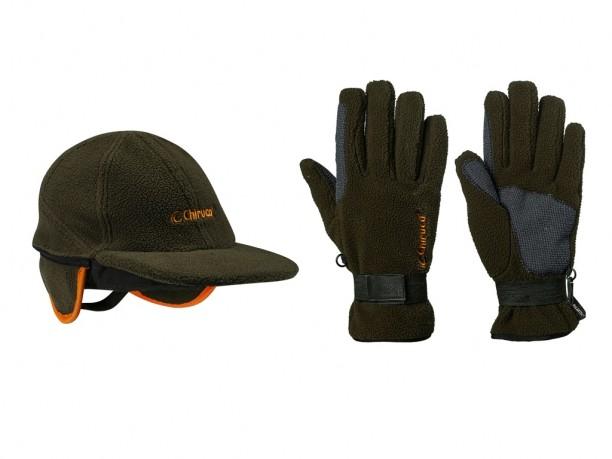 guantes y gorra forest chiruca