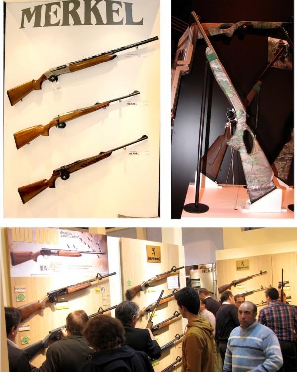 Armas en feria caza cinegética