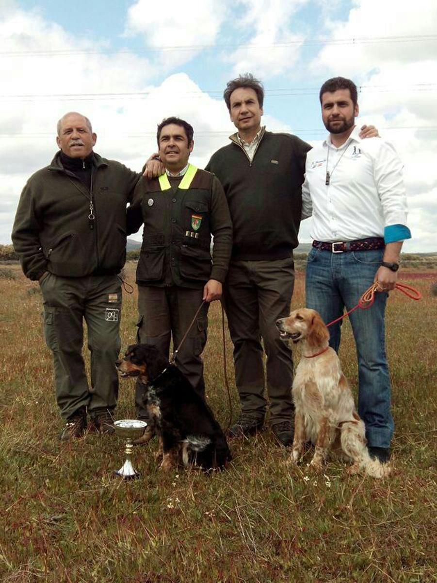 Los dos primeros clasificados campeonato San Huberto 2014 Extremadura