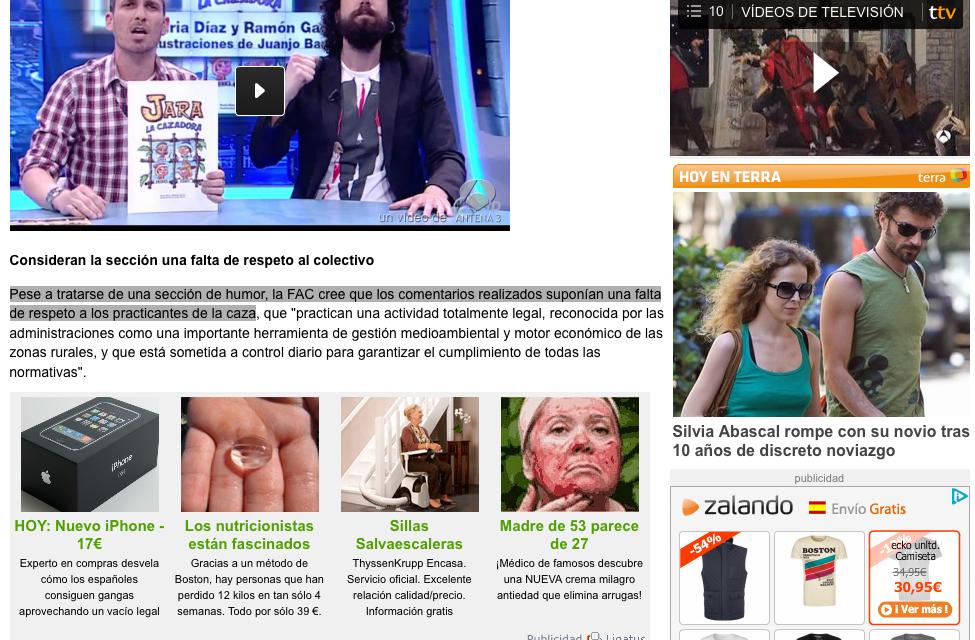 captura imagen publicidad engañosa en Vertele