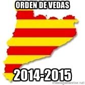 Orden de vedas Cataluña 2014-2015