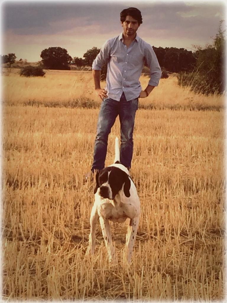 El Mani y su perro de caza