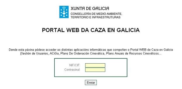 Portal Web Da Caza en Galicia