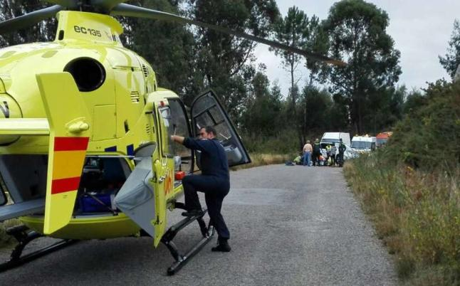 helicoptero medicalizado
