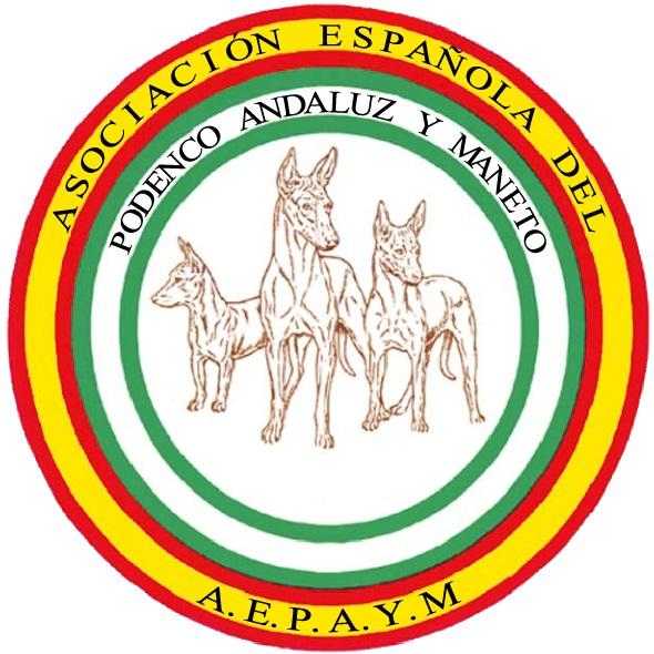 Logotipo de la Asociación Española del Podenco Andaluz y Maneto.