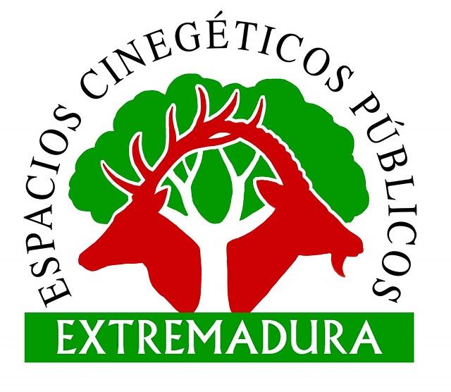 Logotipo de los Espacios Públicos Cinegéticos de Extremadura.