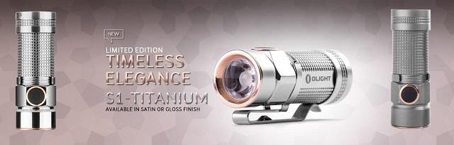 Linterna led Olight s1 titanium edición limitada.