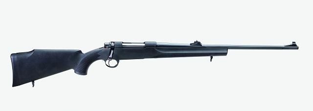 Rifle de cerrojo sintético de la marca Sabatti.