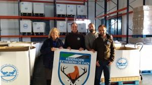 La Federación Extremeña de caza dona los animales abatidos en sus competiciones al banco de alimentos.