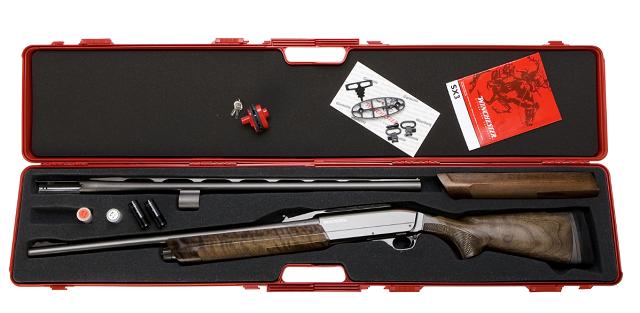 Escopeta Winchester con dos cañones para la caza mayor y menor