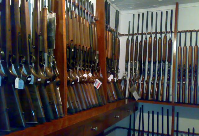 escopetas en armeria