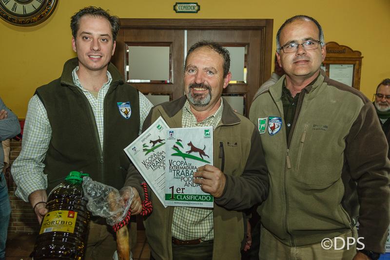 V Copa Podenco Extremadura-Gallardo y Rodriguez con el ganador