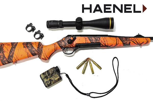 Rifle de cerrojo Haenel J10 y sus accesorios