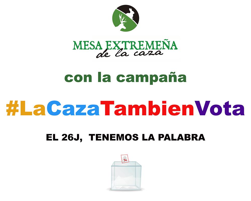 La Mesa Extremeña de la Caza con la campaña #LaCazaTambiénVota