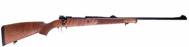 Rifle de cerrojo Voere 2155 con culata de madera.