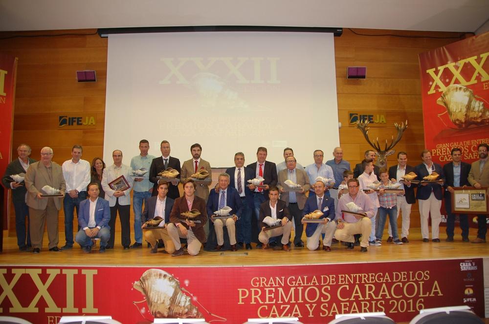 Todos los premiados en la Gala de las Caracolas.