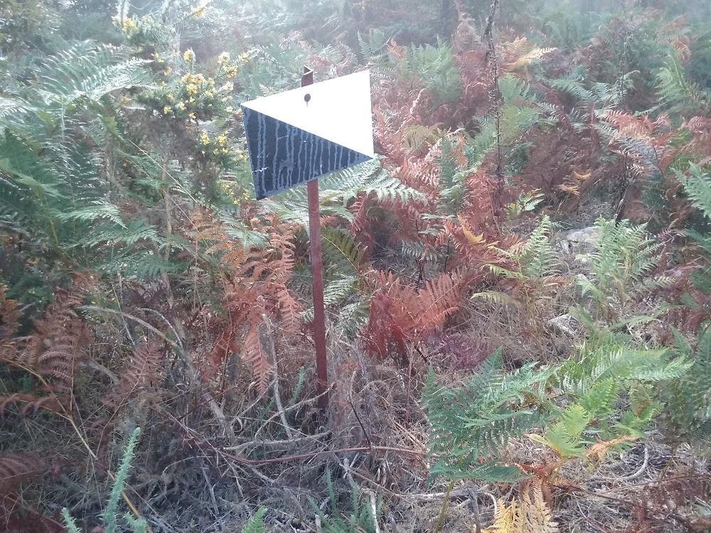 Señalización en coto de caza de Galicia. Foto de SOS Conejo.