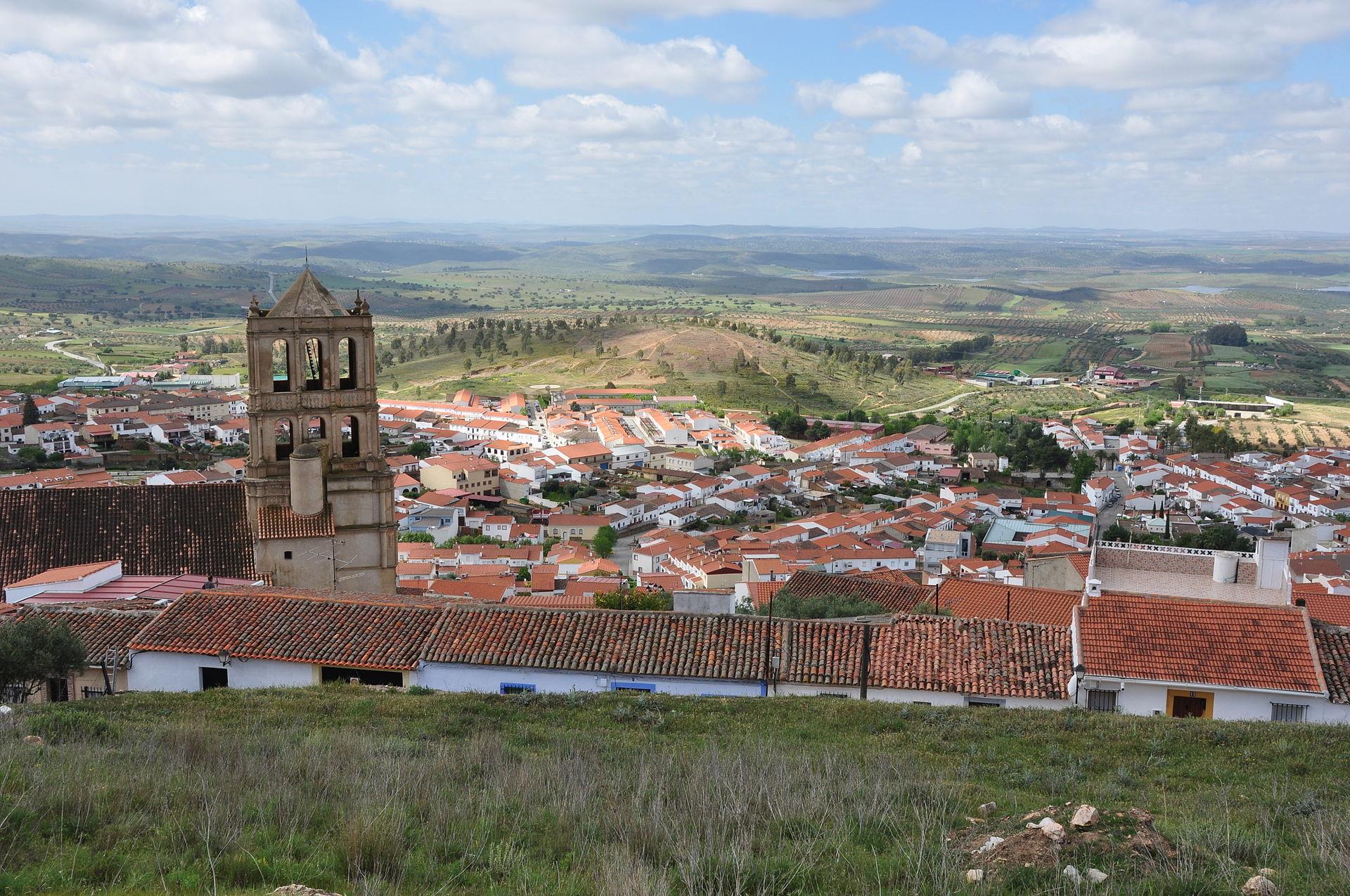 Hornachos (Badajoz), pueblo en el que se realizó la cacería.