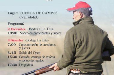 """Cartel del Open de Caza Menor """"maestro"""" Tragacete organizado por Mikel Torné."""