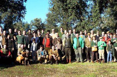 Foto grupal. El Real Club de Montero celebra su V Montería Social.