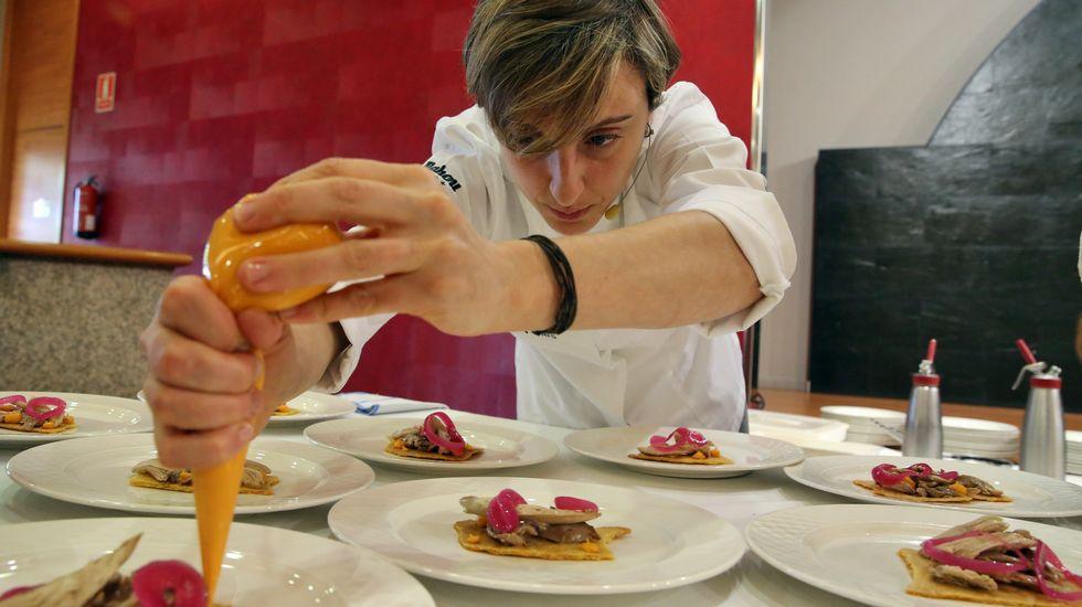 La chef Inés Abril prepara los platos con perdiz / Martina Miser