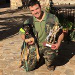 Gabriel Rodríguez Barba, campeón del campeonato de Caza Menor con Perro de Ciudad Real.