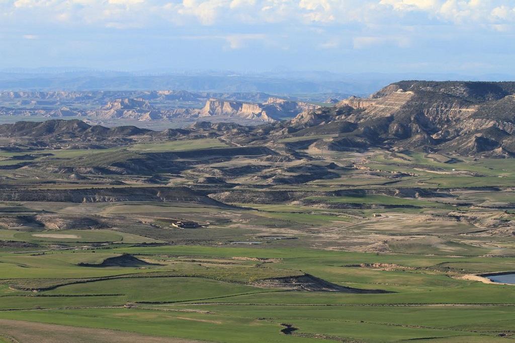 Fotografía del Parque Natural de Bardenas Reales en Navarra.