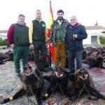 Organizadores en la montería en Valdeinfierno, con Cabezas Servicios de Caza