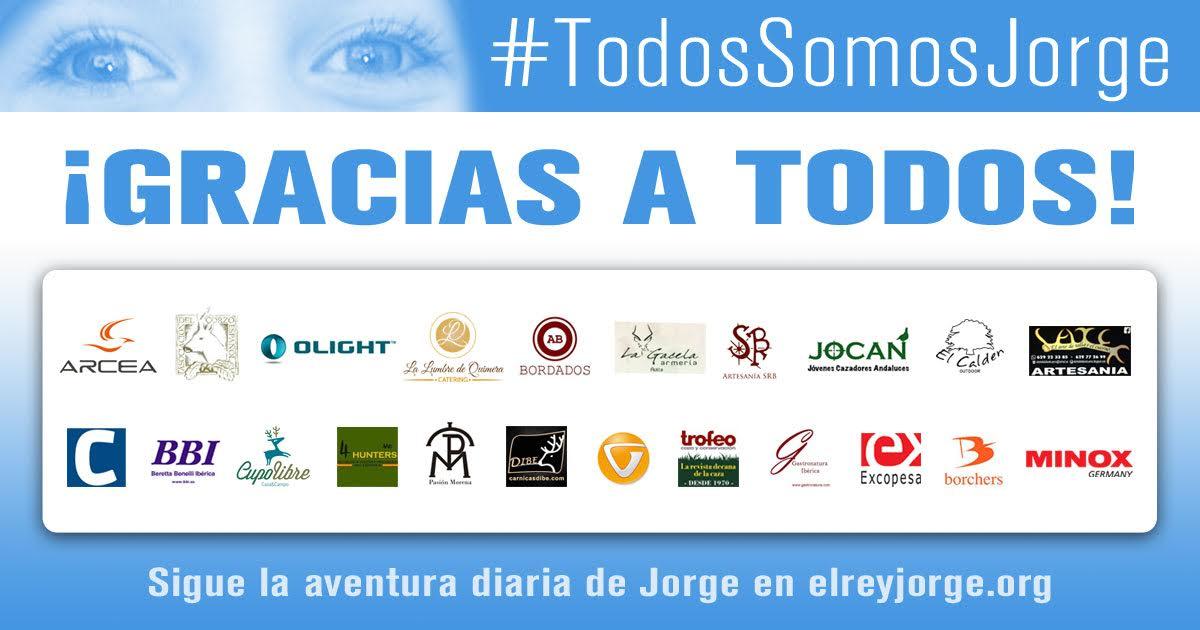 Campaña benéfica #TodosSomosJorge organizada con el fin de recaudar fondos para El Rey Jorge.