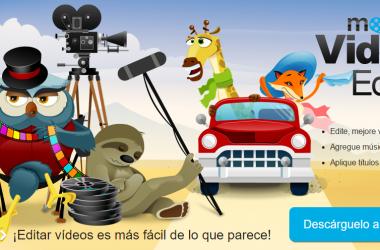 Captura de la página web de Movavi Video Editor.