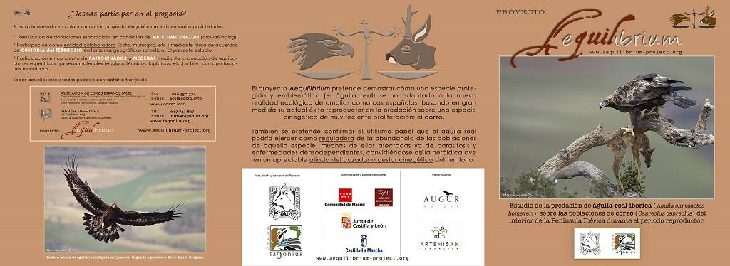 Tríptico promocional del proyecto Aequilibrium de la ACE.