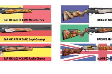 Los 6 modelos que Browning ha diseñado en agradecimiento a Bélgica, Francia, Alemania, Italia, España e Inglaterra.