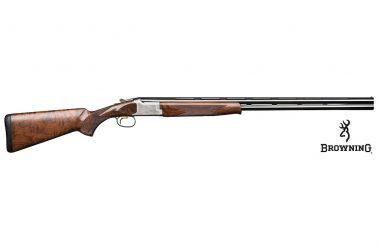 Imagen de la nueva Browning B525 Sporter One en calibre 20. Con maderas de grado 2 acabadas al aceite.