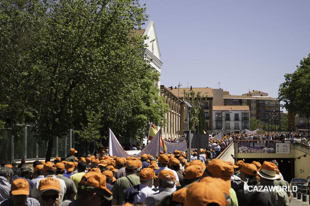 Más de 2.000 personas han apoyado hoy la manifestación organizada por Ática en Guadalajara. / J. C. Calvo - Cazaworld