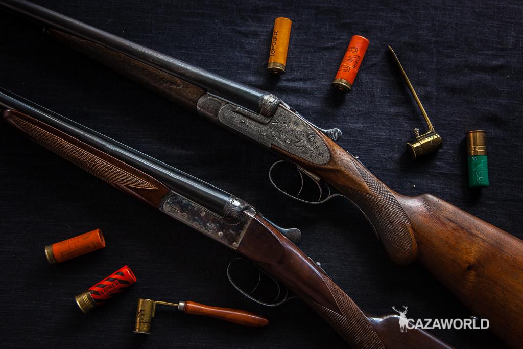 Compras escopetas paralelas de pletina larga y pletina corta
