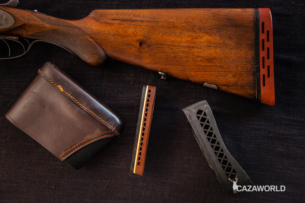 Culata de escopeta y diferentes cantoneras