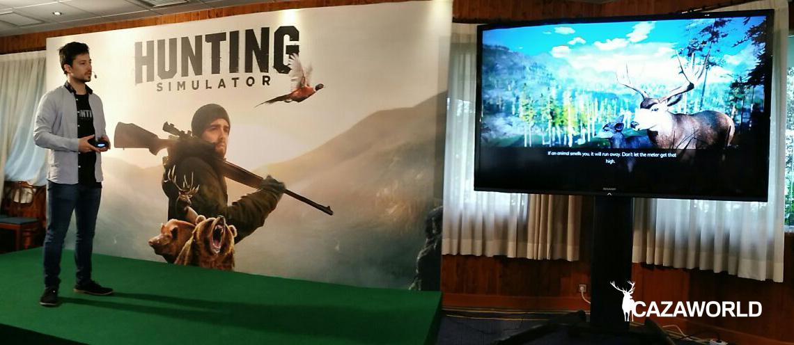 Tomás Carpentier presenta en España el juego de caza Hunting Simulator