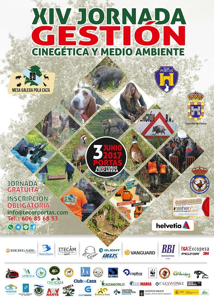 Cartel de la XIV Jornada Gestión Cinegética y Medio Ambiente