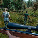 Escena del juego Hunting Simulator en el que cazan con rifle.