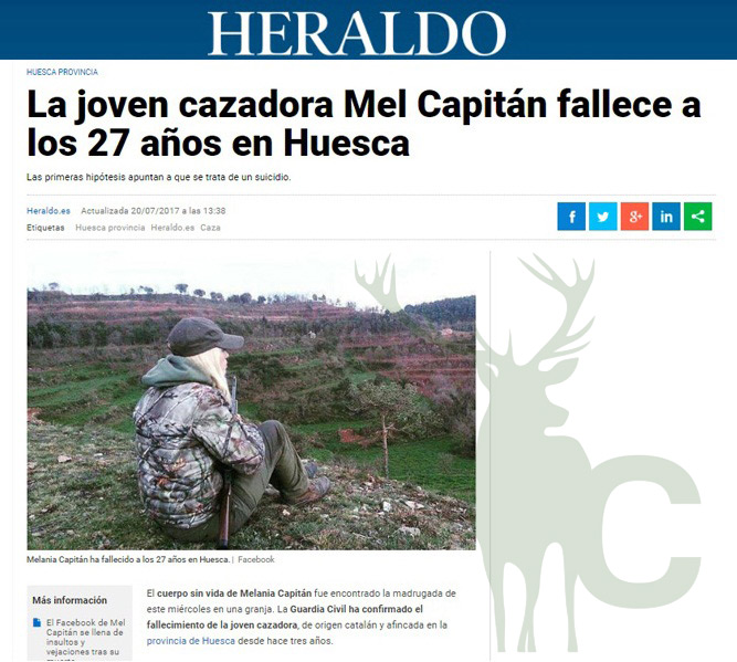 Heraldo de Aragón Mel Capitán