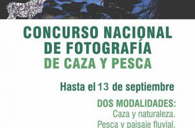Cartel del Concurso de Fotografía de Caza y Pesca celebrado en Intercaza.