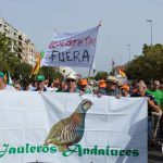 """Jauleros andaluces, """"Ecolojetas Fuera"""", """"Defendamos nuestra afición"""" son algunos de los mensajes que se han podido ver en Córdoba."""