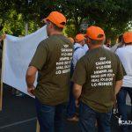 Algunos manifestantes han pedido respeto con su indumentaría.