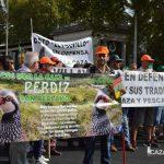Algunas de las pancartas vistas hoy en la manifestación del mundo rural.